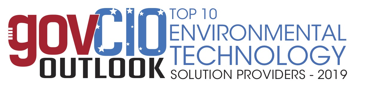 A loge for govCIO Outlook magazine in red, blue and black text that says  Top 10 Environmental Technology Solution Providers 2019